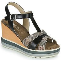 Schuhe Damen Sandalen / Sandaletten Dorking TOTEM Schwarz / Bronze