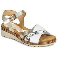 Schuhe Damen Sandalen / Sandaletten Dorking ESPE Weiss / Silbern