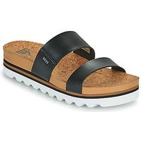 Schuhe Damen Pantoletten Reef CUSHION VISTA HI Schwarz