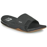 Schuhe Herren Pantoletten Reef FANNING SLIDE Schwarz