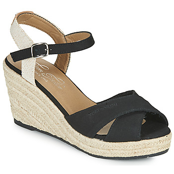 Schuhe Damen Sandalen / Sandaletten Tom Tailor NOUMI Schwarz