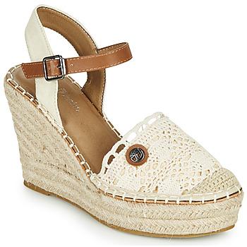 Schuhe Damen Sandalen / Sandaletten Tom Tailor DEB Creme
