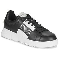 Schuhe Herren Sneaker Low Emporio Armani MALTA Schwarz / Weiss