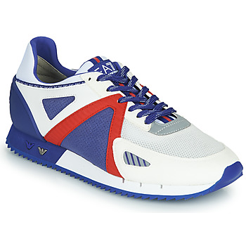 Schuhe Herren Sneaker Low Emporio Armani EA7 SAPONI Weiss / Blau / Rot