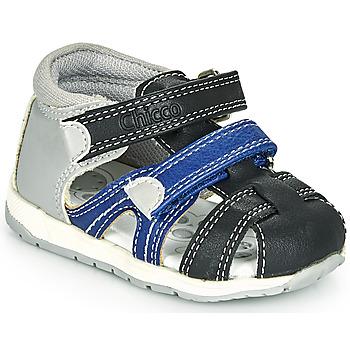 Schuhe Jungen Sandalen / Sandaletten Chicco GABRIEL Blau / Grau