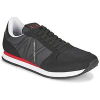 Schuhe Herren Sneaker Low Armani Exchange ESPACIA Schwarz / Rot