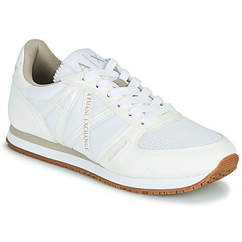 Schuhe Damen Sneaker Low Armani Exchange VINCENTI Weiss