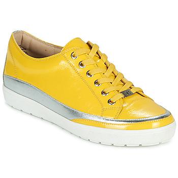 Schuhe Damen Sneaker Low Caprice 23654-613 Gelb / Silbern