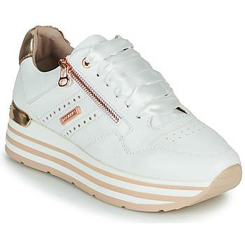 Schuhe Damen Sneaker Low Dockers by Gerli 44CA207-592 Weiss