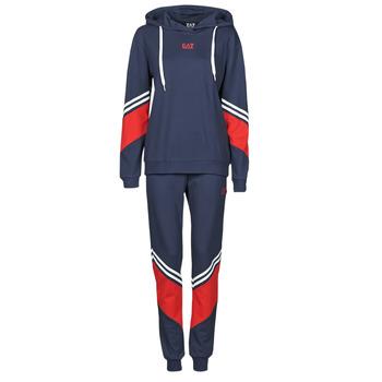 Kleidung Damen Jogginganzüge Emporio Armani EA7 3KTV65-TJ3PZ-1554 Marine / Weiss / Rot