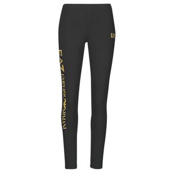 Kleidung Damen Leggings Emporio Armani EA7 8NTP63-TJ01Z-0200 Schwarz / Gold