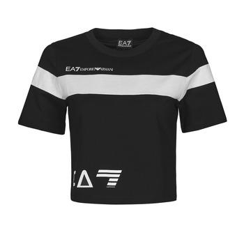 Kleidung Damen T-Shirts Emporio Armani EA7 3KTT05-TJ9ZZ-1200 Schwarz / Weiss
