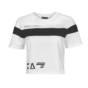 Kleidung Damen T-Shirts Emporio Armani EA7 3KTT05-TJ9ZZ-1100 Weiss / Schwarz