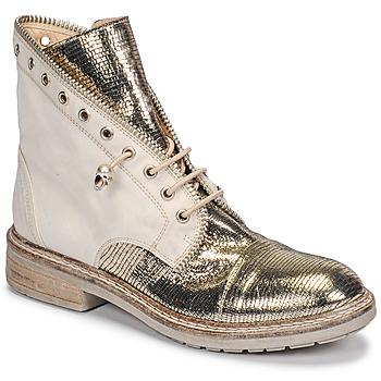 Schuhe Damen Boots Fru.it 6846-480-PLATINO Gold