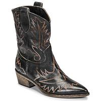 Schuhe Damen Low Boots Fru.it 6797-372-NERO Schwarz / Braun