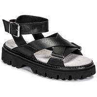 Schuhe Damen Sandalen / Sandaletten Fru.it 6757-100-NERO Schwarz