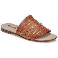 Schuhe Damen Pantoffel Fru.it 6765-100-CUOIO Braun