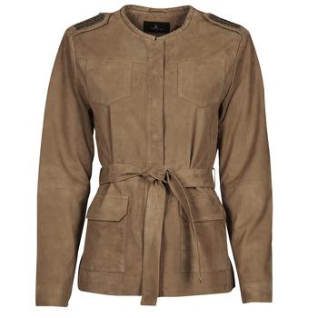 Kleidung Damen Lederjacken / Kunstlederjacken One Step DITA Cognac