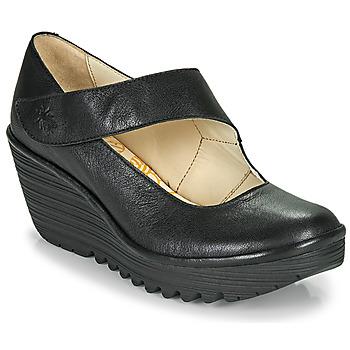 Schuhe Damen Pumps Fly London YASI Schwarz