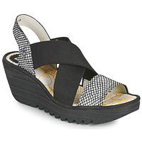 Schuhe Damen Sandalen / Sandaletten Fly London YAJI Schwarz / Weiss
