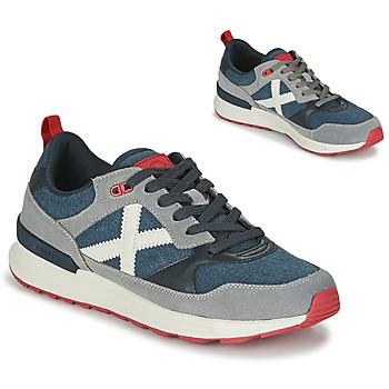 Schuhe Herren Sneaker Low Munich ALPHA 51 Grau / Blau