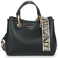Taschen Damen Handtasche Emporio Armani BORSA SHOPPING Schwarz / Goldfarben