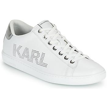 Schuhe Damen Sneaker Low Karl Lagerfeld KUPSOLE II KARL PUNKT LOGO LO Weiss