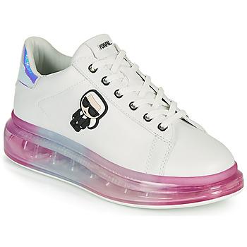 Schuhe Damen Sneaker Low Karl Lagerfeld KAPRI KUSHION KARL IKONIC LO LACE Weiss / Multicolor