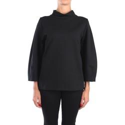 Kleidung Damen Tops / Blusen Anna Seravalli S1005 Blusen Damen Schwarz Schwarz
