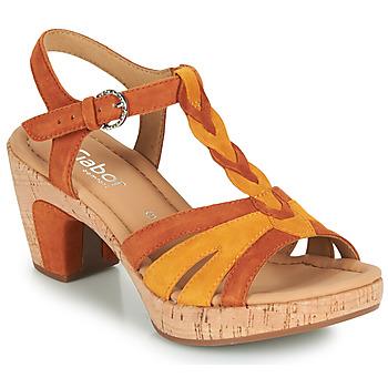 Schuhe Damen Sandalen / Sandaletten Gabor 6273442 Cognac
