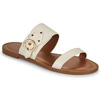 Schuhe Damen Pantoffel Coach HARLOW Elfenbein