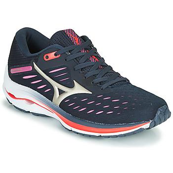 Schuhe Damen Laufschuhe Mizuno WAVE RIDER 24 Violett / Rose