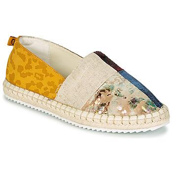 Schuhe Damen Leinen-Pantoletten mit gefloch Desigual SELVA PATCH Multicolor