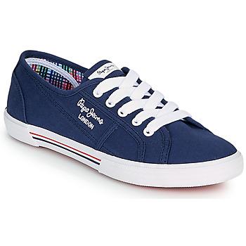 Schuhe Damen Sneaker Low Pepe jeans ABERLADY ECOBASS Marine