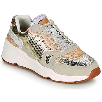 Schuhe Damen Sneaker Low Pepe jeans HARLOW GOLDEN Beige / Gold