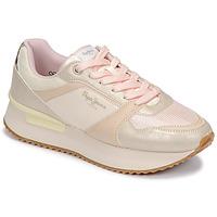 Schuhe Damen Sneaker Low Pepe jeans RUSPER EVE Weiss / Leopard