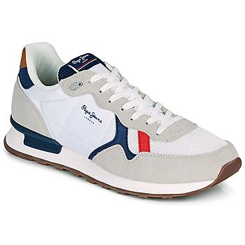 Schuhe Herren Sneaker Low Pepe jeans BRITT MAN BASIC Weiss / Beige