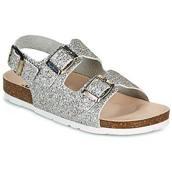 Schuhe Mädchen Sandalen / Sandaletten Pepe jeans BIO BASIC GLITTER Silbern / Glitterfarbe