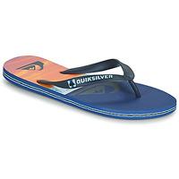 Schuhe Herren Zehensandalen Quiksilver MOLOKAI PANEL Blau / Orange / Schwarz