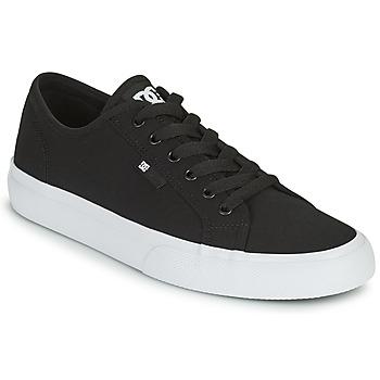 Schuhe Herren Skaterschuhe DC Shoes MANUAL Schwarz / Weiss
