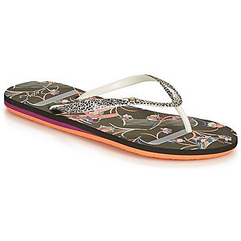 Schuhe Damen Zehensandalen Roxy PORTOFINO III Schwarz