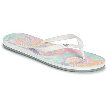 Schuhe Damen Zehensandalen Roxy TAHITI VII Weiss / Rose