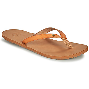 Schuhe Damen Zehensandalen Roxy JYLL III Camel