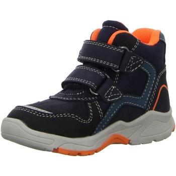Schuhe Jungen Stiefel Salamander Klettstiefel CHRISTIAN-TEX,DK NAVY ORANGE 33-44000-42 blau
