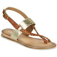 Schuhe Damen Sandalen / Sandaletten Ravel LUNA Gold / Camel