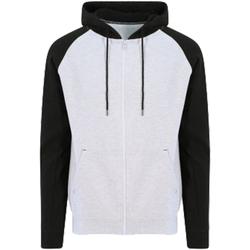 Kleidung Herren Sweatshirts Awdis JH063 Grau meliert/Schwarz