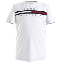 Kleidung Jungen T-Shirts Tommy Hilfiger KB0KB06532-YBR Weiss