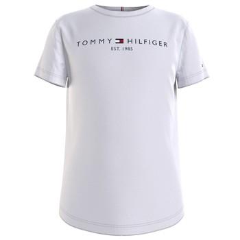 Kleidung Mädchen T-Shirts Tommy Hilfiger KG0KG05242-YBR Weiss