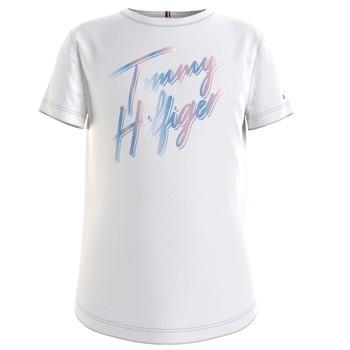 Kleidung Mädchen T-Shirts Tommy Hilfiger KG0KG05870-YBR Weiss