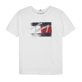 Kleidung Mädchen T-Shirts Tommy Hilfiger MONCHE Weiss